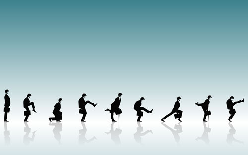 The Ministry of Silly Walks vector wallpaper