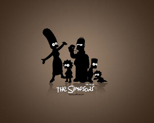 the simpsons vector wallpaper
